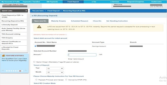 SBI me Online RD account kaise khole?